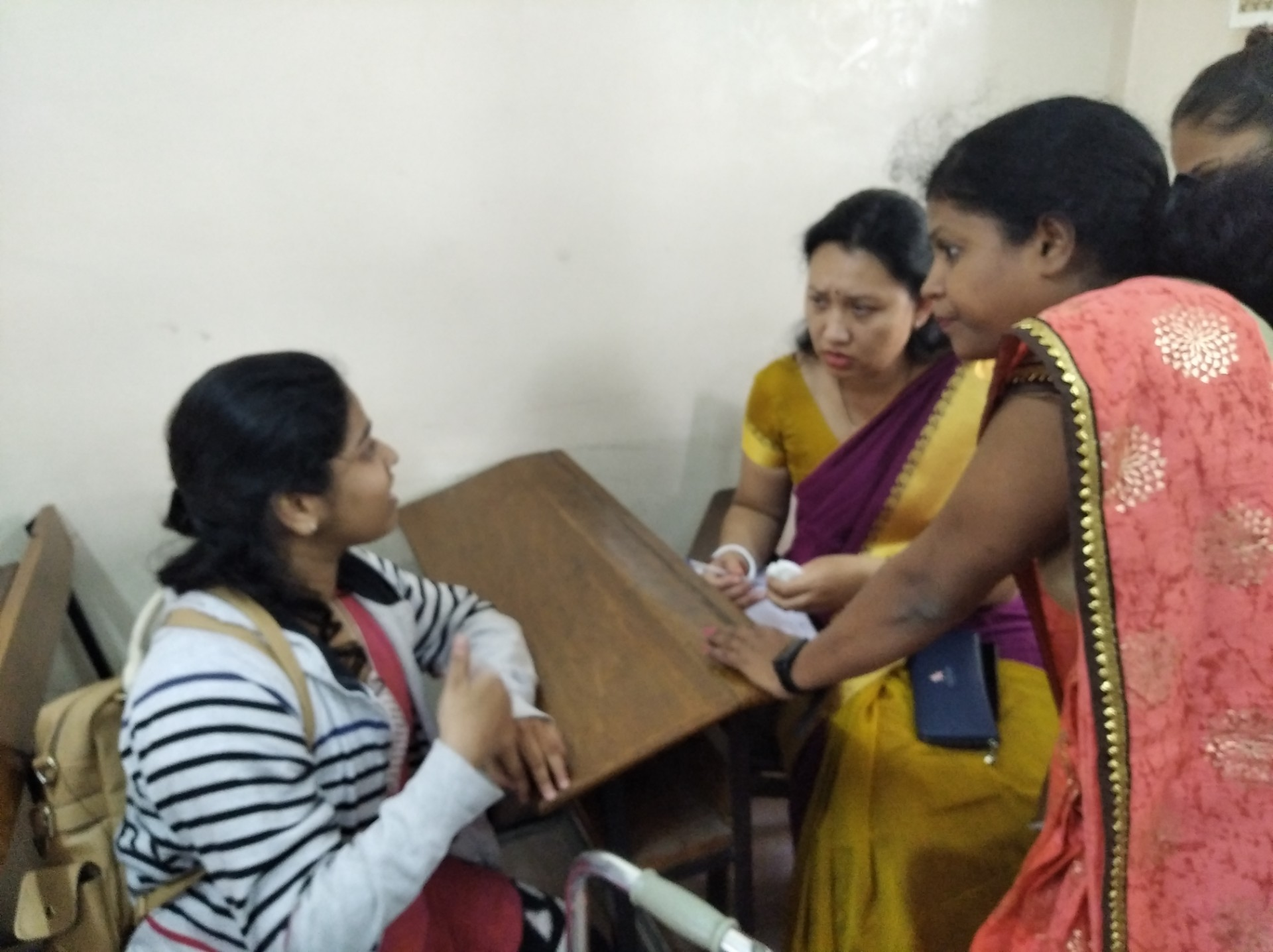 30th jan 2020_interviewing Divyang students on facility provided