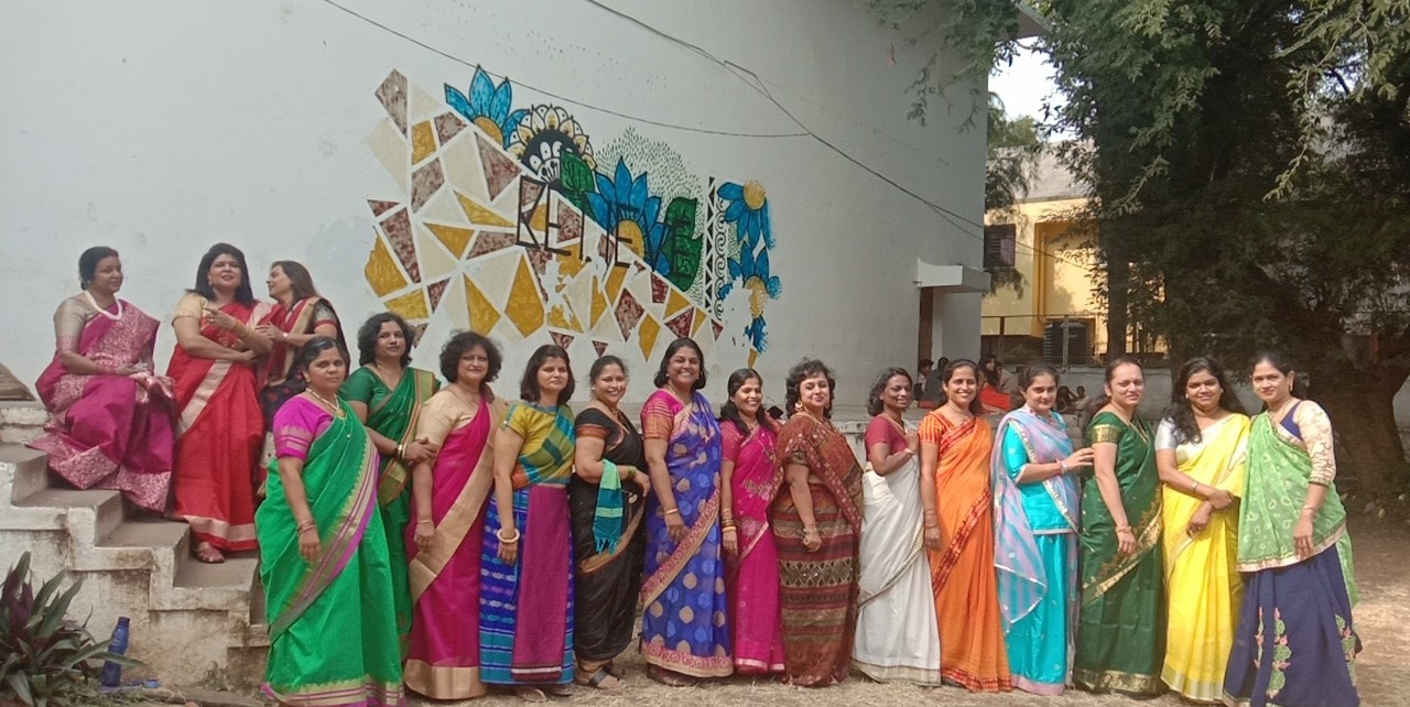 EBSB - Junior College staff in Traditional attire