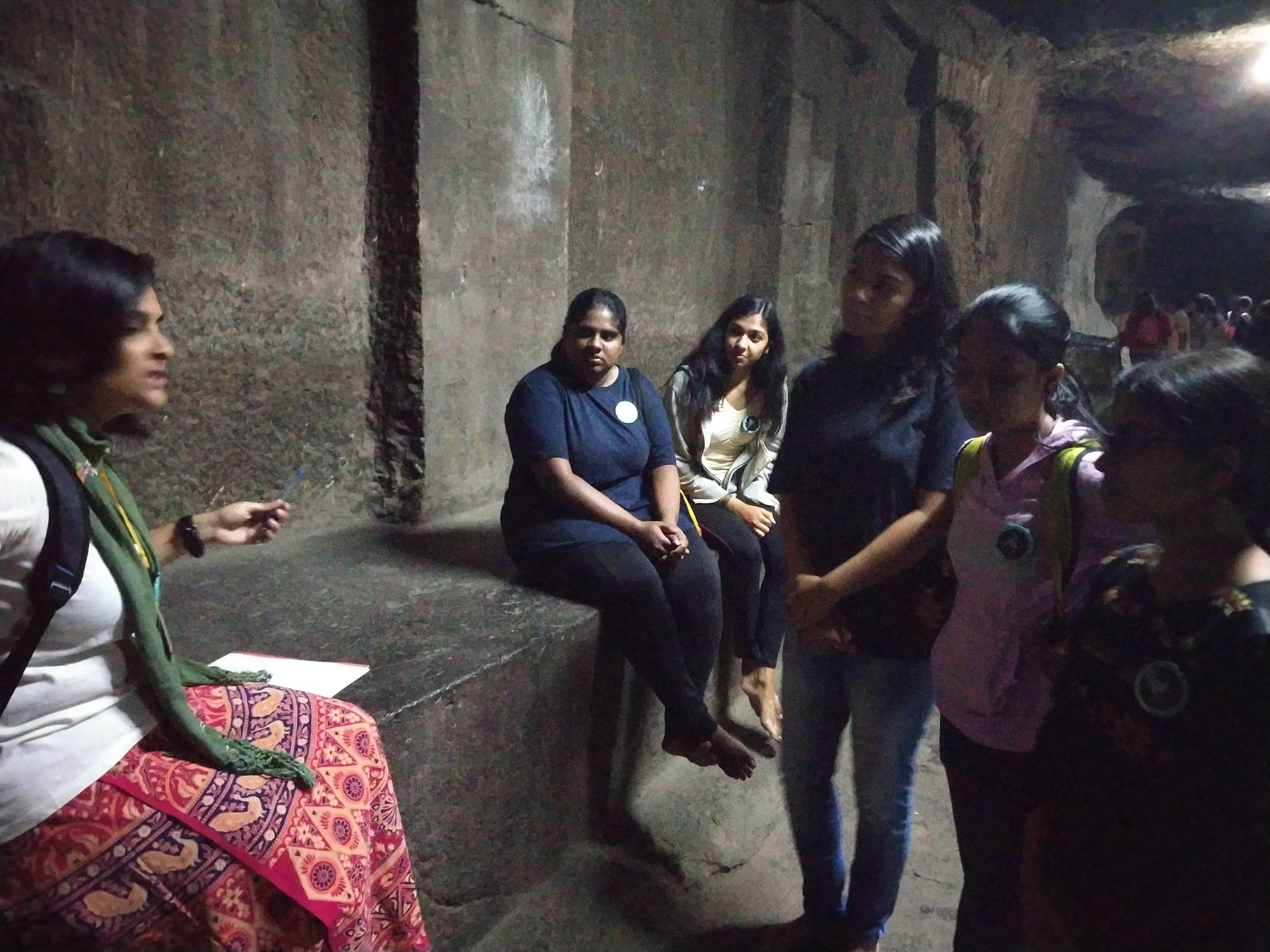 Heritage Walk Pataleshwar Caves_With the Group Leader Dept. of History