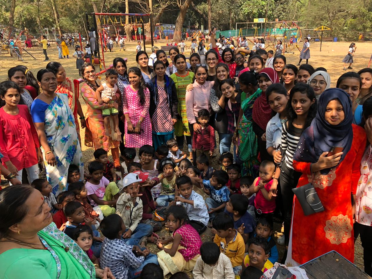 Students at Empress Garden with DeepGriha support staff and Children