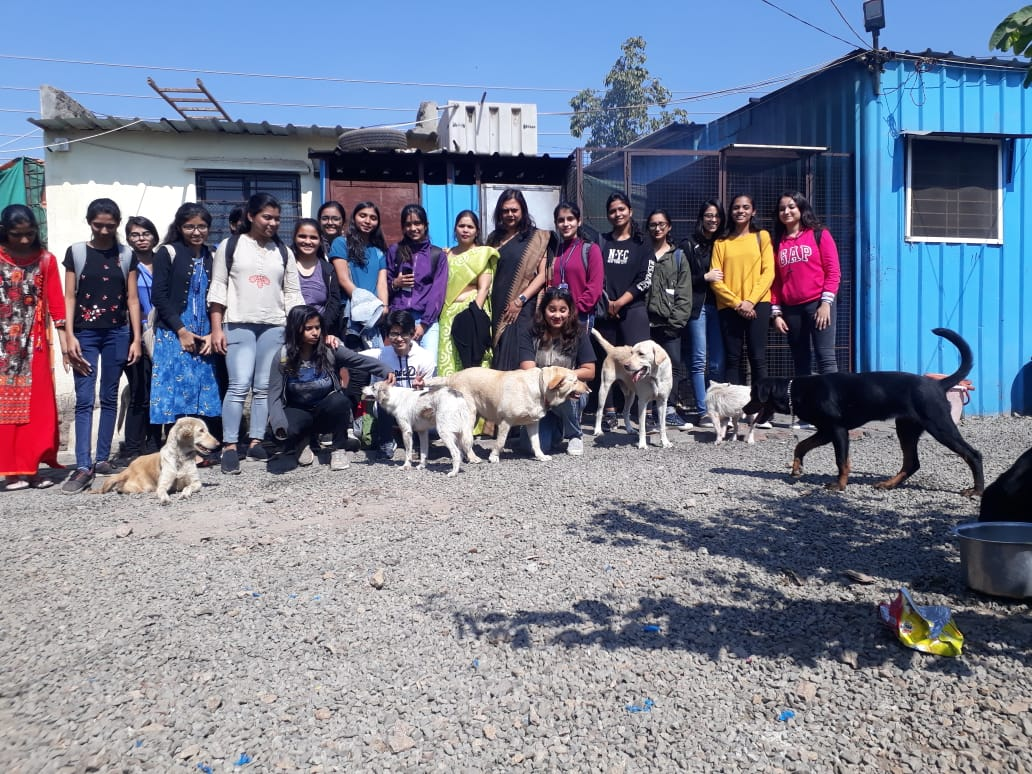 With the members at the shelter
