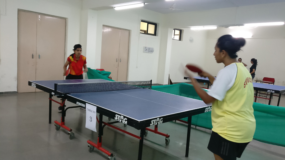 Inter Collegiate table tennis Competition our team secured fourth Place. (while playing the match)