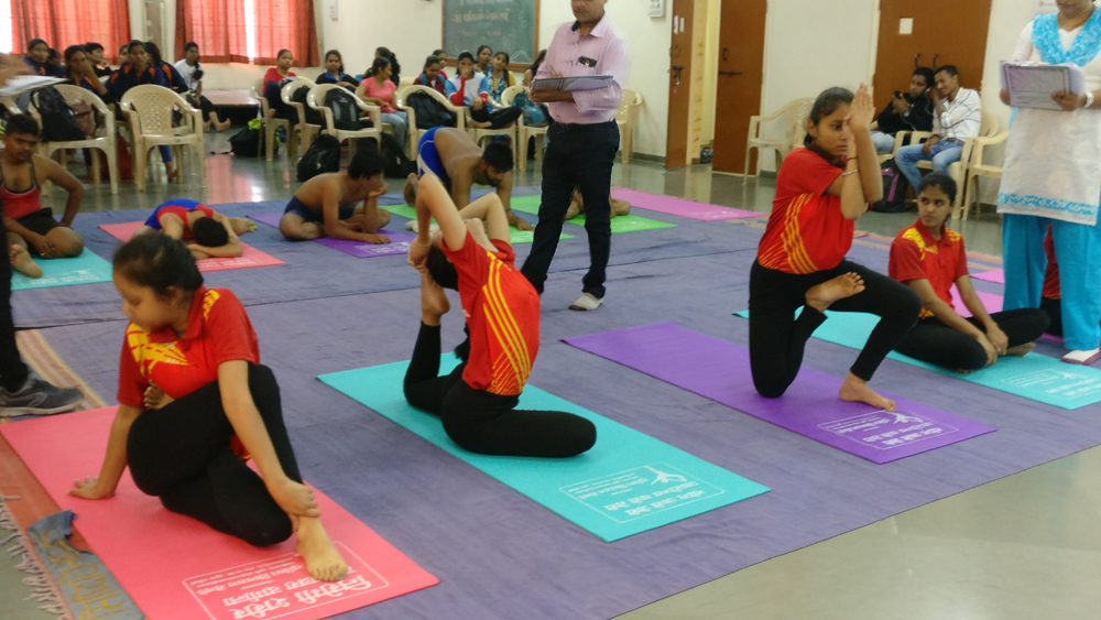 Inter Collegiate yoga Competition our team secured Second Place. (while performing optional asanas)