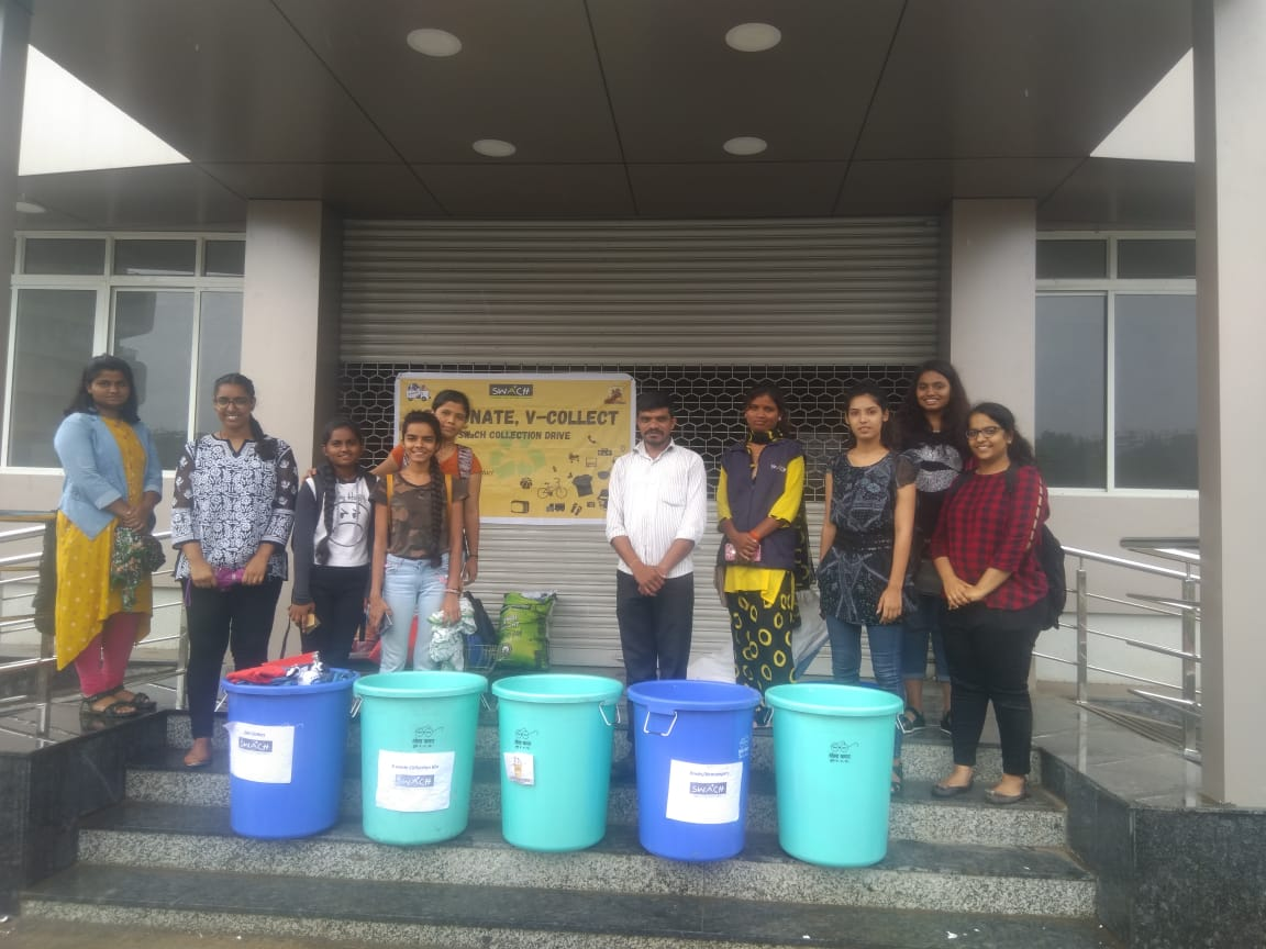 Student Participation in Mega Collection Drive by SWaCH
