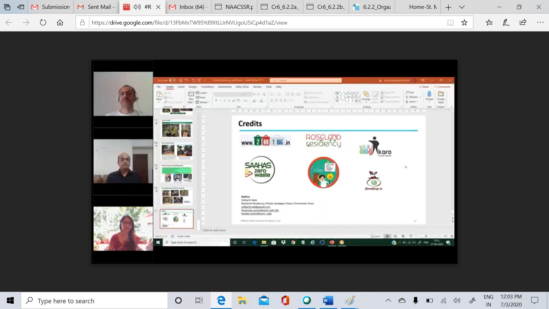 Opening Remarks by Coordinator _Green Club National Level Webinar