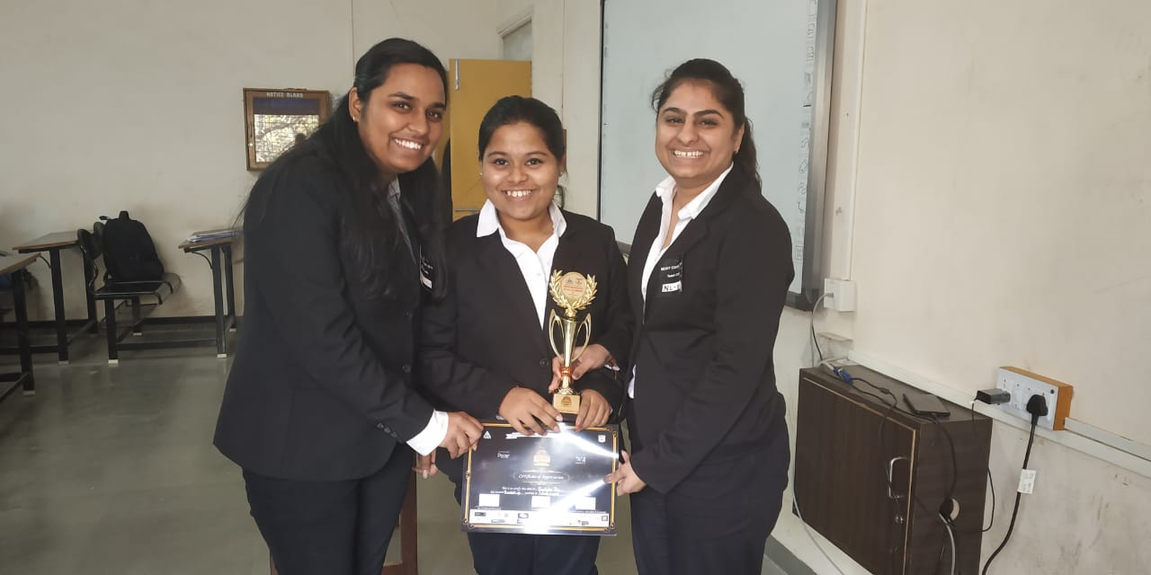 Runners Up Trophy in  Moot Court competition!