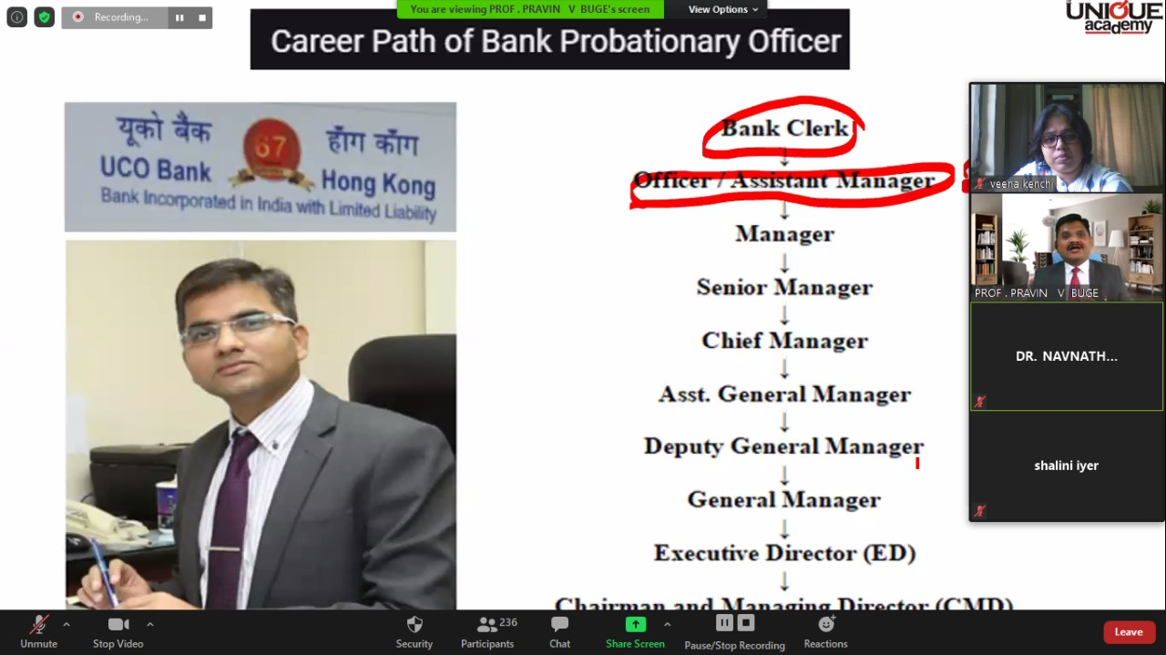 2- Discussion about job heirarchy in Banking sector