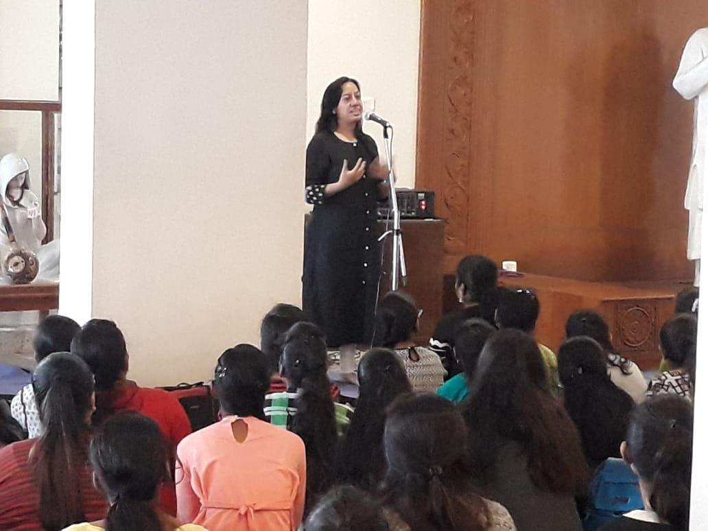 Dr. Geeta Bora, Founder Spherule Foundation, during launch of the course in college
