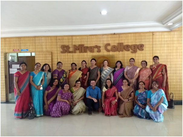 St. Mira's College faculty participating in the TCS-AIP 2018-19