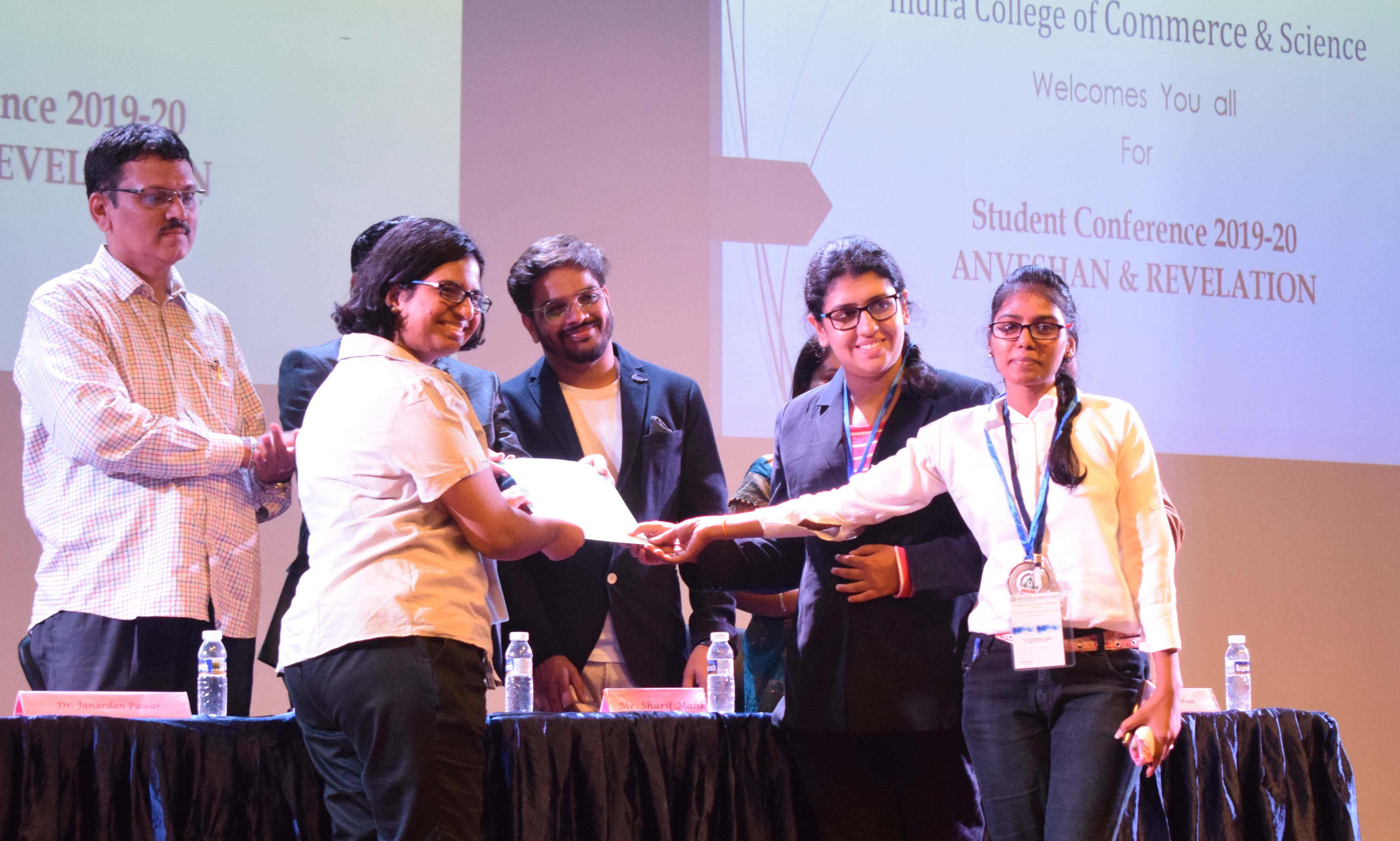 Third Prize Student Research Conference Indira College